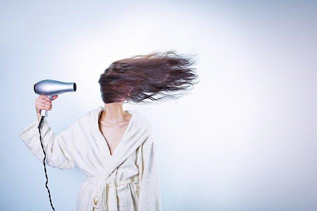 sušení vlasů